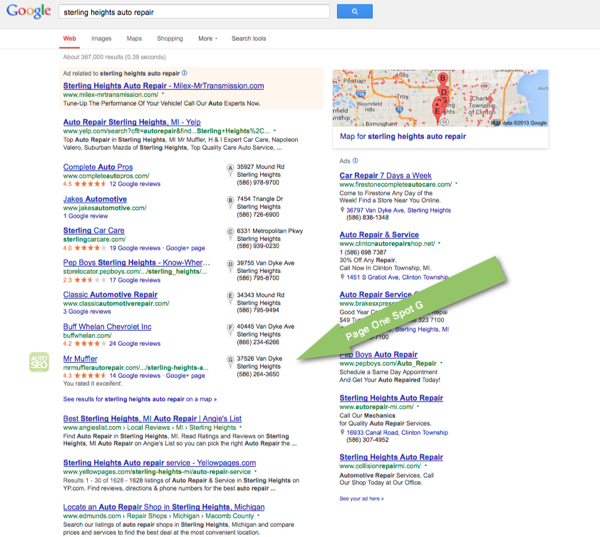 Auto Repair SEO Case Study - Sterling Heights Auto Repair