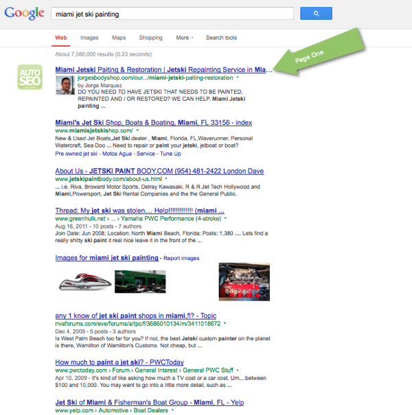 Body Shop SEO Case Study - Miami Jetski Painting