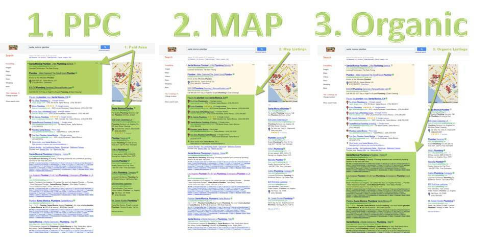 Understanding the Search Engines (PPC vs Organic vs. Map)